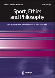 Sport, Ethics and Philosophy journal cover